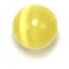 """Cat Eye Beads 8mm Round yellow Strand 16"""" Fibre Optic"""